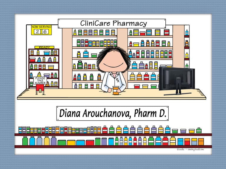 Pharmacist Cartoon Picture