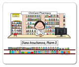 Pharmacist Mouse Pad Female Personalized