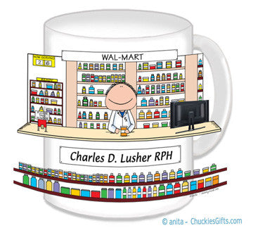 Pharmacist Mug Male - Personalized