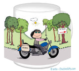 Motorcycle Mug Female - Personalized