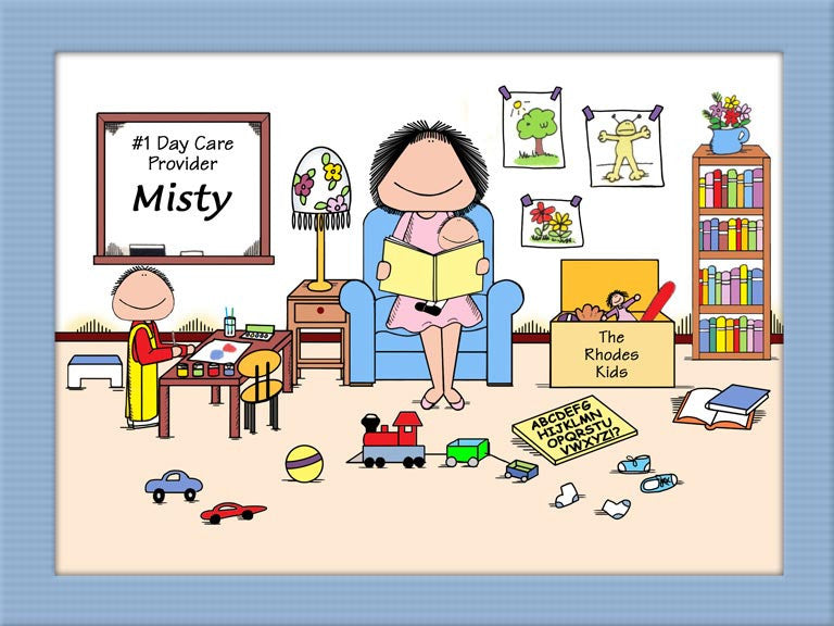 Kid Care Cartoon Picture Female - Personalized 8357