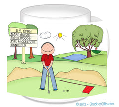 Putting Golfer Mug Male - Personalized