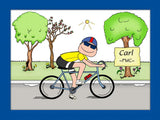Bicyclist Cartoon Picture Male - Personalized 8364