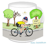 Bicyclist Mug Male - Personalized