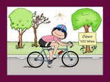 Bicyclist Cartoon Picture Female - Personalized 8365