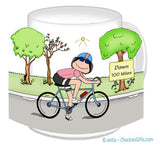 Bicyclist Mug Female - Personalized
