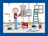 Electrician Cartoon Picture Male - Personalized 8368