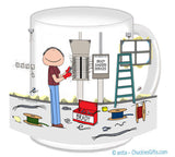 Electrician Mug Male - Personalized