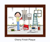 Electrician Plaque Female - Personalized