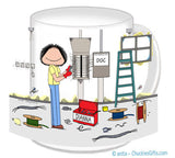 Electrician Mug Female - Personalized