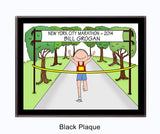 Runner Plaque Male - Personalized