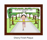 Running Plaque Female - Personalized