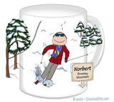 Downhill Skier Mug Male - Personalized 8376
