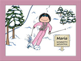 Downhill Cartoon Picture Female - Personalized 8377