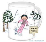 Downhill Skier Mug Female - Personalized 8377