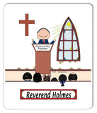 Minister Mouse Pad Male Personalized