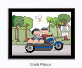 Motorcycle w/side car 3 Kids - Personalized