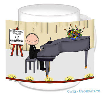 Piano Player Mug Male - Personalized