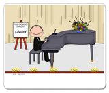 Piano Player Mouse Pad Male Personalized