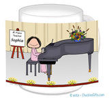 Piano Player Mug Female - Personalized