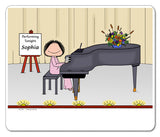 Piano Player Mouse Pad Female Personalized