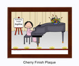 Piano Player Plaque