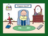 Grandpa Baby Boomer Cartoon Picture Male - Personalized 8388