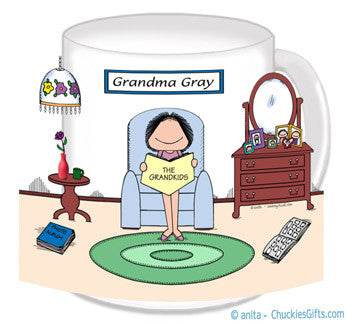 8389 - Grandma - Baby Boomer Mug Female - Personalized
