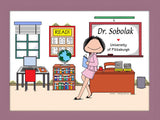 Instructor Cartoon Picture Female - Personalized 8391