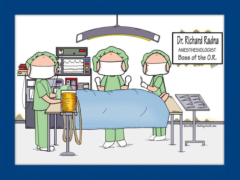 Operating Room Cartoon Picture - Personalized 8392