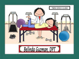 Physical Therapist Cartoon Picture Female - Personalized 8393