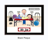Physical Therapist Plaque Male - Personalized