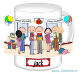 Birthday Party Mug Male - Personalized