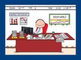 Financial Advisor / Stockbroker Cartoon Picture Male Personalized 8402