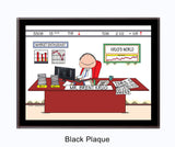 Financial Advisor / Stockbroker Plaque Male - Personalized