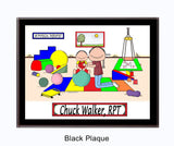 Pediatric Physical Therapist Plaque Male - Personalized