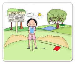 Putting Golfer Mouse Pad Female Personalized
