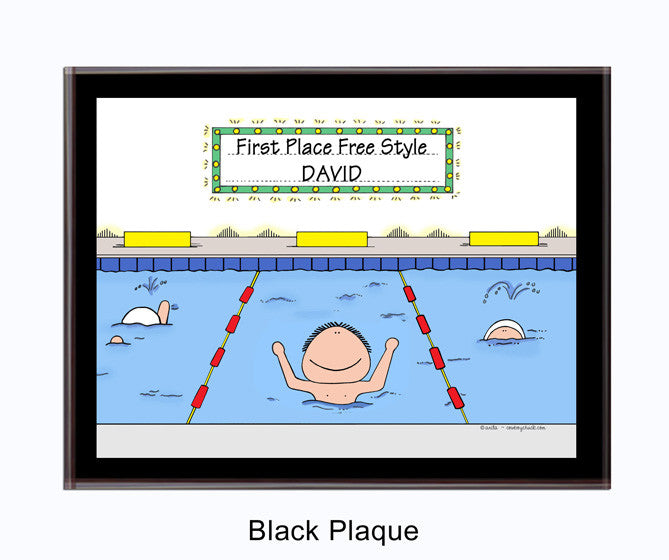 Swimmer Plaque Male - Personalized