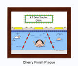 Swimmer Plaque Female - Personalized