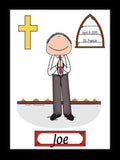 1st Communion Cartoon Picture Male - Personalized 8432