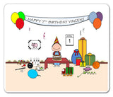 Kid's Birthday Mouse Pad Male Personalized