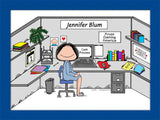 Cubicle Sweet Cubicle Cartoon Picture Female - Personalized 8462