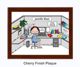 Cubicle Sweet Cubicle Plaque Female - Personalized