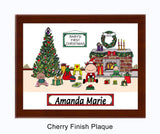 8464 - Baby's First Christmas Plaque Female - Personalized