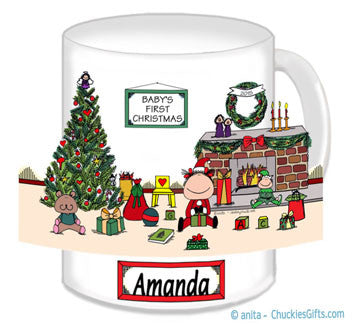 Baby's First Christmas Mug Female - Personalized