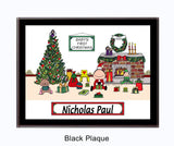 8464 - Baby's First Christmas Plaque Male - Personalized