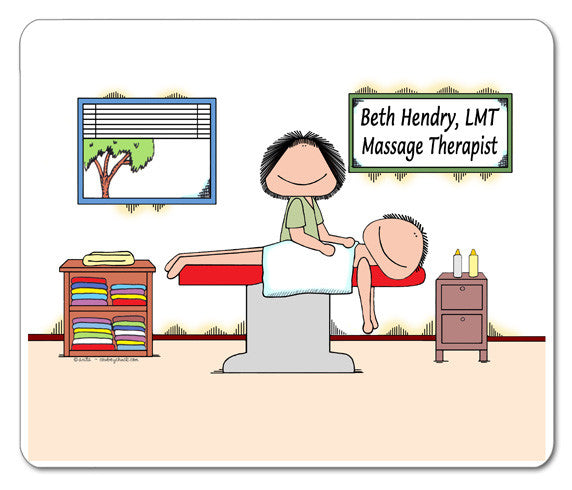 Massage Therapist Mouse Pad