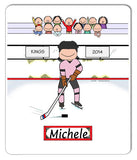 Hockey Player Mouse Pad Female Personalized