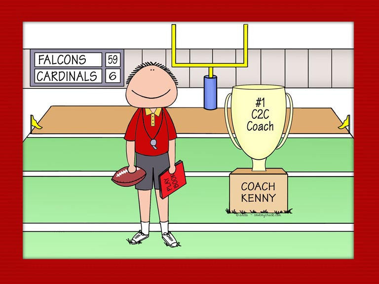 Football Coach Trophy Cartoon Picture