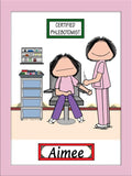 Phlebotomist Cartoon Picture Female - Personalized 8479